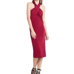 LAST CHANCE 10/13🔸 BCBGeneration | Cross Front Halter Dress in Purple Berry